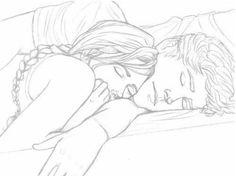anime couple cuddling - Google Search