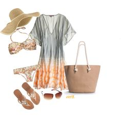Pool Time - Vacation Day 1, created by michelled2711 on Polyvore