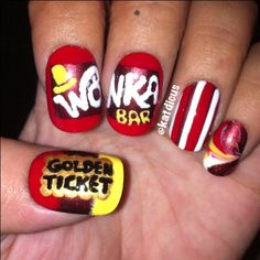 Wonka Bar Nails