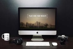 A big collection of best available apple iMac mockup PSD templates to download and use for free. These iMac mockups are in PSD format for easy editing.