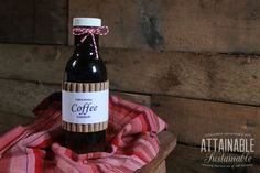 Homemade coffee liqueur (aka Kahlua) is super easy to make. Most recipes call for instant coffee; not this one.