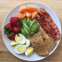 Breakfast ideas healthy fitness protein trendy ideas fitness breakfast is part of Healthy recipes - Healthy Desayunos, Healthy Recipes, Diet Recipes, Healthy Snacks, Healthy Eating, Easy Snacks, Snack Recipes, Cooking Recipes, Bacon Recipes