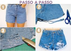 short lindo customisado passo a passo