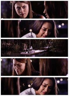 Lindsey Shaw (Paige McCullers) & Shay Mitchell (Emily Fields) - Pretty Little Liars. Sad scene beautifully acted!