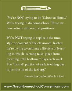 Homeschooling is!