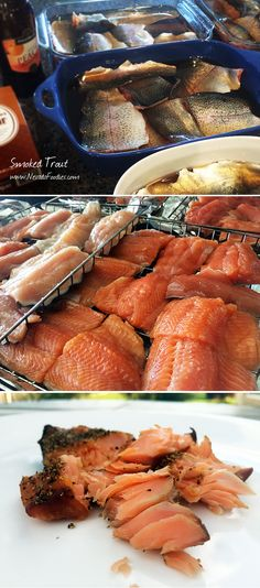 Smoked Rainbow Trout: This rainbow trout brine and smoking recipe adds a mild sweet flavor and flakey-firm texture to your fish. Serve on sourdough bread or wheat things with cream cheese, capers and a little diced red onion.