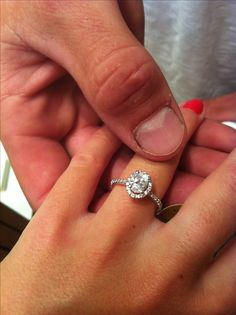Vintage oval halo diamond. Spence diamonds diamond band ring