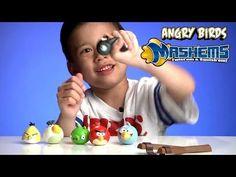 (3) Angry Birds Mash'Ems, Splat Balls, Splat Catch, and Splat Target Zone! - YouTube