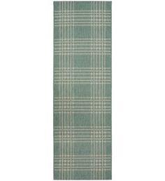 buy county check rug 80x150cm duck egg at argoscouk