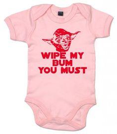Wipe my bum you must Yoda Bodysuit