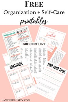 Free Organization Printables for the home, self-care and more. Grocery shopping list organizer, gratitude worksheet, party planning, etc. Free Planner, Planner Pages, Printable Planner, 2015 Planner, Goals Printable, Binder Planner, Life Binder, Printable Calendars, Blog Planner
