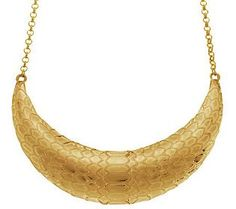 Make a statement with this textured bib necklace from Heidi Klum's collection for QVC.