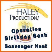 Scavenger Hunt - Operation Birthday Bash for any size party Age 7 - 13