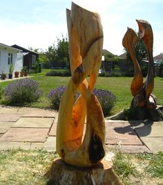 40 Ideas Diy Wood Carving Tree Stumps For 2019 Tree Carving, Wood Carving Art, Wood Carvings, Wood Sculpture, Garden Sculpture, Wood Projects, Woodworking Projects, Yard Sculptures, Into The Woods