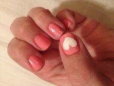 DIY girly Valentines nails! #holidays #valentines #nailart #beauty #diy