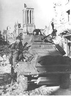 Caen, Normandy, France. July 1944. 12th SS Panzer Division Hitlerjugend.