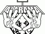 alabama a template | alabama football a text outline coloring page ...