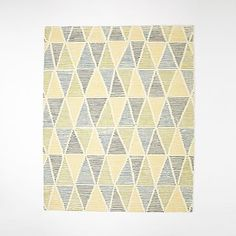 Dotted Triangles Wool Rug - Blue Lagoon #westelm
