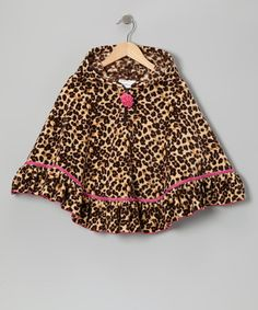 Take a look at this Pink Leopard Fleece Poncho - Toddler & Girls by Gerson & Gerson on #zulily today!