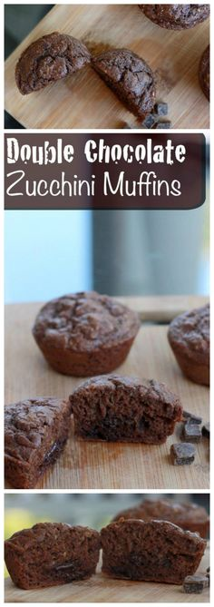 These double chocolate zucchini muffins are the perfect way to use up your leftover veggies! They're super easy to make and filled with chocolate!