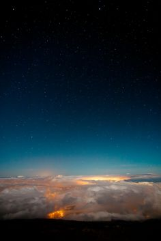 """Astronomical twilight.""  View from Haleakala, Maui upcountry, Hawaii. Photo by Eric Rolph"