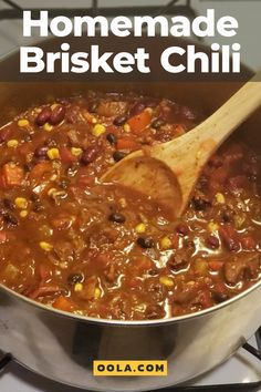 Chili is not a soup; It is not a stew. Chili is a coming of age story involving a few commonplace ingredients who simmer and meld together to make something special. Left Over Brisket Recipes, Beef Brisket Recipes, Smoked Beef Brisket, Crockpot Recipes, Cooking Recipes, Leftover Brisket Chili Recipe, Brisket Meat, Smoker Recipes, Sides With Brisket