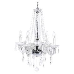 Glass Nursery Chandelier - We love how glam and elegant this chandelier is...perfect for a little girl's #nursery!