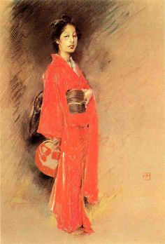A lady in orange Kimono by Robert Frederick Blum http://www.the-athenaeum.org/art/list.php?m=a&s=tu&aid=481