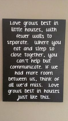 Love - Love Grows Best in LIttle Houses Just Like This - Wood Sign - Home Decor - Home Sign