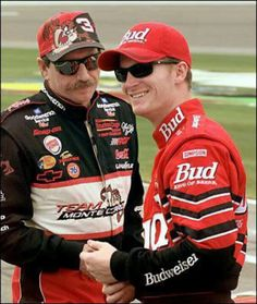 Dale Earnhardt Sr.and Dale Earnhardt Jr. Teacher & Student