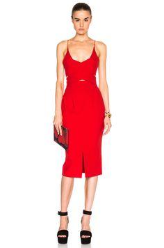 Image 1 of NICHOLAS Angle Wrap Dress em Vermelho
