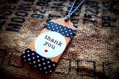 Vintage kraft thank you stickers with twine