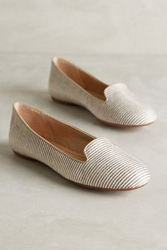 Not quite the black-and-white striped flats I've been looking for, but the muted tones are nice!