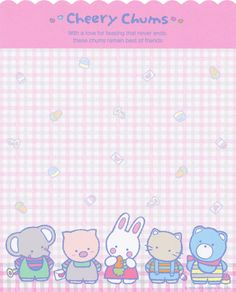 "https://flic.kr/p/HA34F4 | Sanrio ""My Lovely 80s"" Cheery Chums Letter Set"