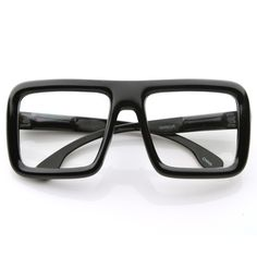 1becfa698892 Oversize Square Block Thick Frame Clear Lens Glasses 8548