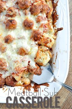 Meatball Sub Casserole - made it yum! left off the cream cheese and mayo...didnt need it