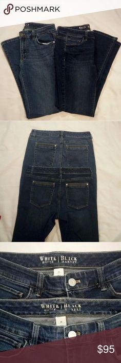 2 pairs White House Black Market jeans EUC size 6 Size 6 EUC - no flaws White House Black market Two pairs White House Black Market Jeans Straight Leg