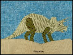 Triceratops - A Paper Pieced Pattern pattern on Craftsy.com  and it's free!