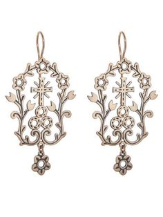 Country Drop Earrings - Rose Gold