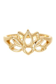 Lotus Flower Ring  Put some diamonds and sapphires in it and I will definitely want it!