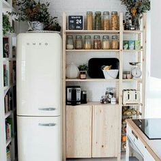 9 Centered Tips AND Tricks: Minimalist Decor Kitchen Small Spaces minimalist home bedroom simple.Minimalist Interior Home Modern minimalist kitchen lighting stools.Minimalist Home Tour Decor. Small Modern Kitchens, Home Kitchens, Kitchen Small, Kitchen Pantry, Kitchen Shelves, Organized Kitchen, Kitchen Storage, Pantry Storage, Kitchen White