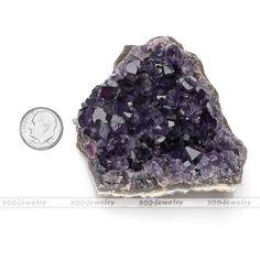 1Pc Gemstone Amethyst Cluster Crystal Healing Energy Home Office Decor Ornament