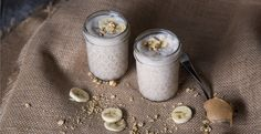 Crunchy PB & Banana Smoothie by Blendtec   unsweetened almond milk   peanut butter   banana   ice cubes   high-protein granola