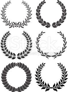 Laurel Wreaths vector de stock libre de derechos