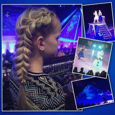 """125 tykkäystä, 4 kommenttia - Heli (@braidingbad) Instagramissa: """"Elsa braid for Disney on Ice Frozen tonight ⛸⛄️❄️👸🏼 #pullthroughbraid with a little #heartbraid…"""""""