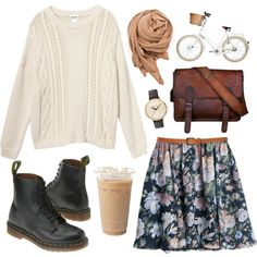 Girly with docs by hanaglatison on Polyvore