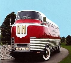 The GM Futurliners were a group of stylized buses designed in the 1940s by Harley Earl for General Motors. They were used in GM's Parade of Progress, which traveled the United States exhibiting new cars and technology. The Futurliners were used from 1940 to 1941 and again from 1953 to 1956. A total of 12 were built, and 9 were still known to exist as of 2007.