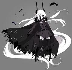 Anime Oc, Anime Demon, Kawaii Anime, Gray Gardens, Art Manga, Rpg Horror Games, Sad Art, Beautiful Anime Girl, Horror Art