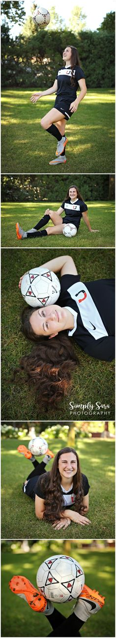 Senior Portrait Photos & Poses for Girls - Outdoor Photo Shoot - Grassy Field - Soccer - Sports - Billings, MT High School Senior Portrait Photographer