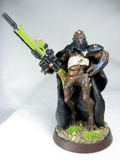 Kroot Mercenary Hunter Shaper w/ Sniper-Rifle & Kroot-Pistol.